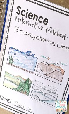 I love this ecosystem interactive notebook for my students. It contains food webs, food chains, energy pyramids, and more. Part of the Earth Science interactive notebook series. Great interactive journal projects for grade - middle school. 4th Grade Activities, 4th Grade Science, Middle School Science, Fourth Grade, Science Lesson Plans, Science Lessons, Teaching Science, Life Science, Science Ideas