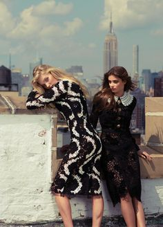 Elsa Hosk and Taylor Marie Hill in Dolce & Gabbana for Fashion Magazine, September 2015 cover. Taylor Marie Hill, Elsa Hosk, Fashion Shoot, Editorial Fashion, Fashion Models, Fashion Beauty, Fashion Fashion, Latest Fashion, Zeina