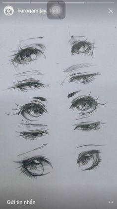 Vẽ cảm xúc của mắt Drawing Sketches, Eye Sketch, Anime Sketch, Drawing Skills, Art Drawings, Eye Art, Manga Art, Manga Drawing, Anime Art