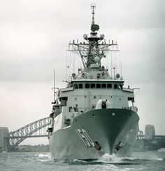 Anzac is the third Royal Australian Navy ship to carry the name of legend, named after the Australian and New Zealand Army Corps of WWI. HMAS Anzac is the first of her class and a modern warship, capable of operating in a multi-threat environment. Anzac's design is based on the German Meko 200 Class that uses modular construction methods. A feature of this method was the ability to share the construction of the 8 Australian and 2 New Zealand vessels throughout Australia and New Zealand. Lest We Forget Anzac, Royal Australian Navy, Man Of War, Anzac Day, Armada, Navy Ships, World War One, Military Weapons, Submarines