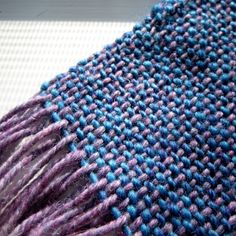 "Nice weaving blog. Talks about 10""Cricket heddle loom and weaving Craftsy class."