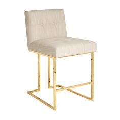 For Sale on - Minimalist comfort. Pared down geometry. Polished brass meets chic comfort in our Goldfinger collection. Our Goldfinger counter stool looks as good from Modern Counter Stools, Modern Dining Chairs, Bar Stools, Modern Furniture, Home Furniture, Plywood Furniture, Furniture Design, Futuristic Furniture, Luxury Furniture