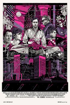 Tyler Stout's 'Drive' screenprint is awesome. I love the pink/purple variant.
