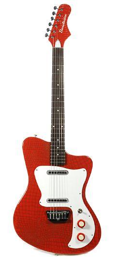 DANELECTRO '67 Heaven Hawk Guitar Red Alligator | Chicago Music Exchange