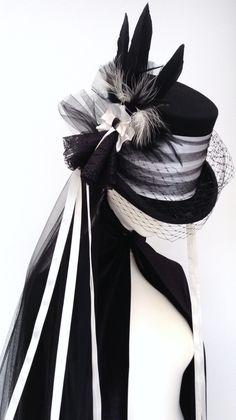Victorian Gothic steampunk wedding top hat by Blackpin on Etsy https://www.etsy.com/listing/177645697/victorian-gothic-steampunk-wedding-top