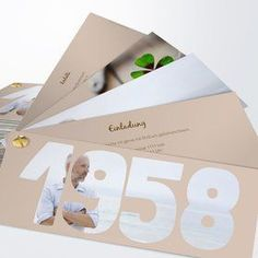 Einladungskarten 60. Geburtstag - selbst gestalten