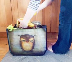Large Shopping Bag - Grumpy Owl, Santoro's Eclectic £14.00 The most splendid way to carry your wonderful new treats. Carry your new items in style in this superb shopper featuring the glorious Grumpy Owl in marvellous mysteriously deep
