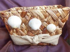Stunning one of a kind decorative basket with by Freebernshells
