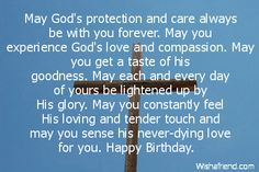 May God's protection and care always, Christian Birthday Greetings