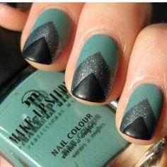 #nail #art #green