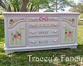 """Vintage Painted Shabby Cottage Dresser with changing table addition """"Emily"""" - MADE TO ORDER"""