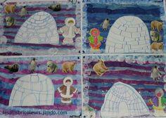severní pól + šablona