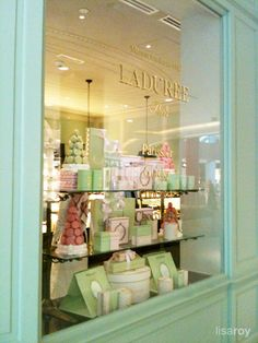 Laduree window, beautiful!