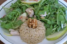 Apple, arugula, & chicken salad - Recipe by Dr. Natasha Turner
