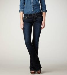 My favorite jeans - and with that price you can have more than one pair. I do! I have them hemmed in all different lengths for all different shoes...