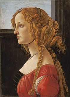 Bild: Sandro Botticelli - Profilbildnis einer jungen Frau (Simonetta Vespucci)