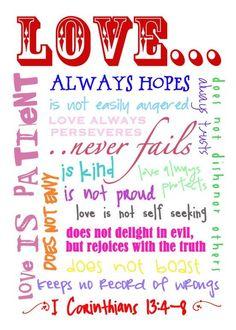 I Corinthians 13 {love} Printable