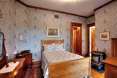 How one couple built a new house with the old plans for an 1885 Queen Anne Victorian in Kansas. Victorian House Interiors, Old Victorian Homes, Victorian Design, Nebraska, Building A New Home, Historical Architecture, Queen Anne, Master Bedroom, New Homes