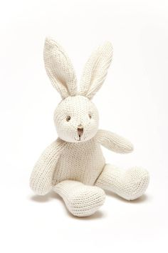 Soft Knit Baby Bunny Bell Rattle