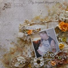 A Fathers Love Layout for Bella Paperie with Maja Vintage Baby Collection