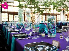 Combinación Azul turquesa con morado