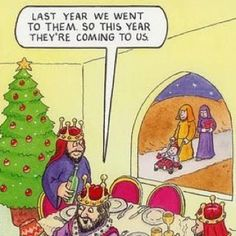 Christmas Humor: Last year we went to them so this year they're coming to us. Funny Christmas Cartoons, Funny Xmas, Funny Church Signs, Funny Signs, Christmas Love, Christmas Ideas, Christmas Crafts, Merry Christmas, Christmas Decorations