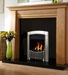 Caress Plus Contemporary HE Open Fronted Gas Fire, From Flavel