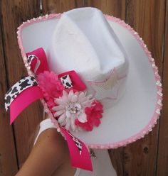 RODEO COWGIRL Hat and Cowgirl Pink Gun Accessories - Halloween Costume Prop - One Size - Toddler to Teen to Adult on Etsy, $30.00