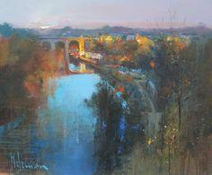River Knidd Knaresborough by Peter Wileman PPROI RSMA EAGMA FRSA Peter Wileman, British Artists, River, Gallery, Painting, Pastel, Roof Rack, Painting Art, Paintings