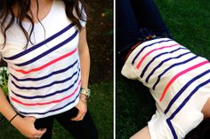 hippanonymous: DIY // striped t.shirt