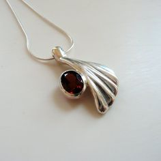 Natural Abstract - Garnet Necklace