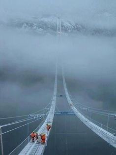 Hardanger Bridge, Norway. Not finished in this picture -set to open August 2013.