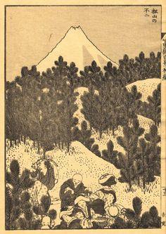 Le peintre japonais Hokusai (1760-1849) était obsédé par le Mont Fuji. Il réalisa une quarantaine d'estampes autour de la célèbre montagne. http://boiteavoyages.wordpress.com/2013/01/20/le-tour-du-monde-en-peintures/