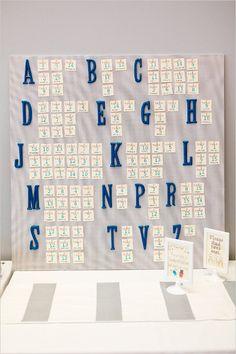 alphabetized escort cards