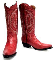 Women's leather fashion  cowboy western boots cowgirl rodeo  biker snip toe  Red #CowboyproCO #CowboyWestern