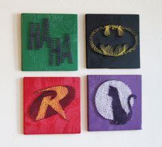 Batman String Art - Wall Hangings (Set of Four). $100.00, via Etsy.