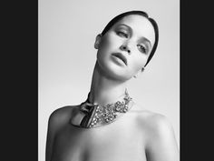 Jennifer Lawrence Dior Ad. Love that necklace!
