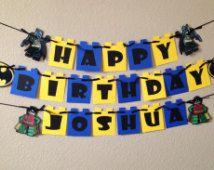 LEGO Batman, bannière anniversaire de Batman, Lego bannière, bannière de Lego Batman