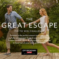 #TheGreatEscape Pin to Win Challenge! Enter to win a $500 Off Broadway Shoe Warehouse gift card & $500 Southwest Airlines gift card! #pintowin #contest #summer #shoes