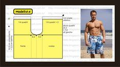 Men's Bermuda shorts for swimming, beachwear