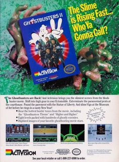 Ghostbusters II Nintendo ad