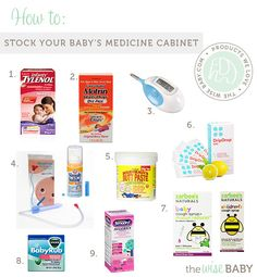 What you need in your baby's medicine cabinet