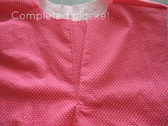 Summertime Romper Tutorial (and how to sew a button/snap placket... This took FOREVER for me to understand!!  But I think I got it, thanks to these photos and descriptions!)