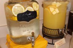 You Are My Sunshine Baby Shower lemon water and sunshine pineapple punch jugs