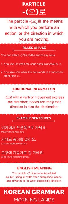 -(으)로 is a little particle that is often overlooked, but it is an important particle to know as it both expresses means and direction. Take a look here. #LearnKorean #Korean #한국어