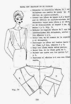 Patrón gratis de blusa con sisas drapeadas