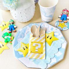 Mario Kart Table Setting + Partyware from a Mario Kart Birthday Party on Kara's Party Ideas | KarasPartyIdeas.com (7)