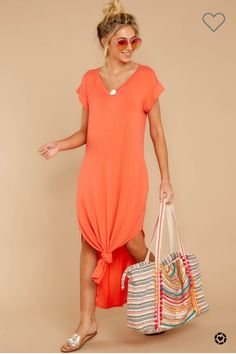 Browse our beautiful dresses in many colors and styles at Red Dress Boutique. Find women's outfits for sale at the lowest prices. Shop for the perfect outfit! Orange Dress Summer, Summer Dresses, Shop Red Dress, Coral Orange, Dress Me Up, Beautiful Dresses, Short Sleeve Dresses, Clothes For Women, Shopping