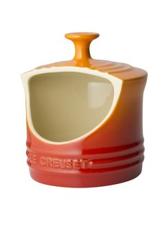 Le Creuset Stoneware Salt Crock, 10-Ounce, Flame