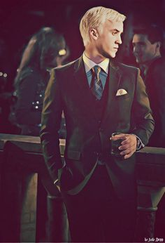 draco malfoy. that's a nice suit there, draco.